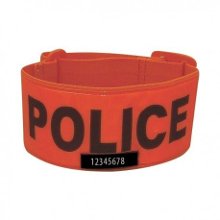 BRASSARD ORANGE POLICE MATRICULE