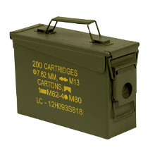 CAISSE A MUNITION US CALIBRE 30 METAL