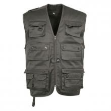 GILET MULTIPOCHES REPORTER OLIVE