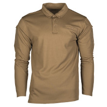 POLO MANCHES LONGUES TACTIQUE QUICKDRY COYOTE