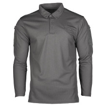 POLO MANCHES LONGUES TACTIQUE QUICKDRY GRIS