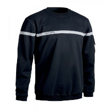 SWEAT SECURITE BANDE GRISE NOIR