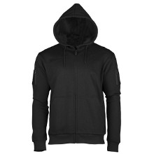 SWEAT SHIRT TACTIQUE A CAPUCHE NOIR