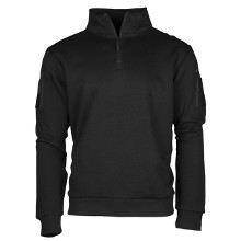 SWEAT SHIRT TACTIQUE ZIP NOIR