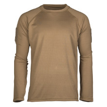 TEE SHIRT TACTIQUE MANCHES LONGUES QUICKDRY COYOTE