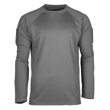 TEE SHIRT TACTIQUE MANCHES LONGUES QUICKDRY GRIS