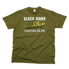 TEE SHIRT BLACK HAWK KAKI