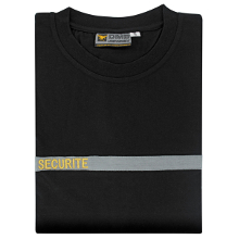 TEE-SHIRT SECURITE BANDE GRISE OR
