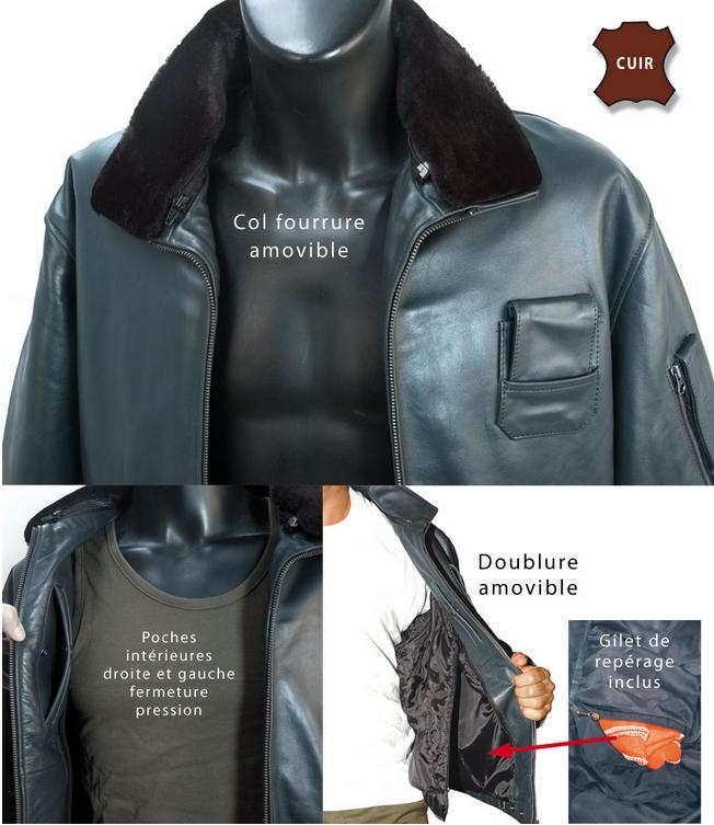 Veste en cuir homme original