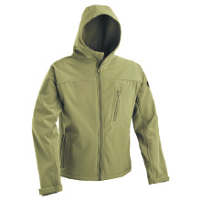 VESTE SOFTSHELL A CAPUCHE DEFCON 5 OLIVE