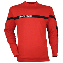SWEAT SHIRT SECURITE INCENDIE ROUGE