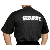 LOT DE 10 TEE-SHIRT SECURITE NOIR B&C